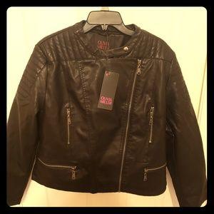 Jackets & Blazers - Olivia Miller Moto Faux Leather Jacket